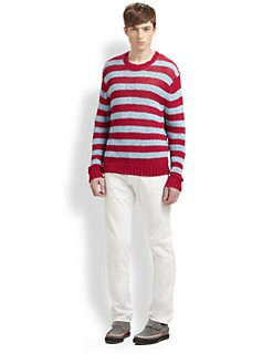 Marc by Marc Jacobs - Douglas Striped Loose-Knit Cotton Sweater
