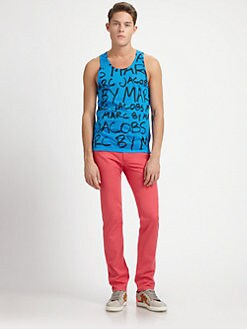 Marc by Marc Jacobs - Neon Printed Jersey Tank