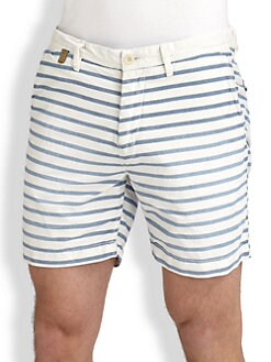 Scotch & Soda - Nautical Striped Cotton Shorts
