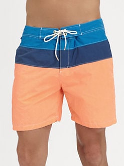 Scotch & Soda - Colorblocked Swim Trunks