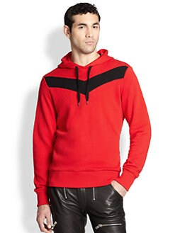 Diesel - Mangala Hooded Chevron Cotton Sweatshirt