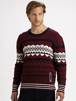 Diesel - Patterned Crewneck Sweater
