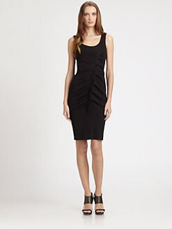 Armani Collezioni - Ruffle-Front Stretch Jersey Dress