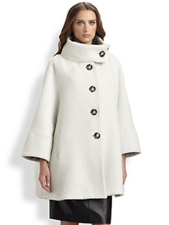 Armani Collezioni - Wool Drop-Shoulder Coat