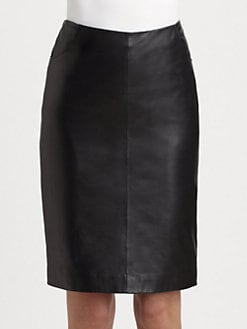 Armani Collezioni - Nappa Leather Skirt