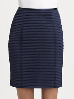 Armani Collezioni - Accordion Silk Pencil Skirt