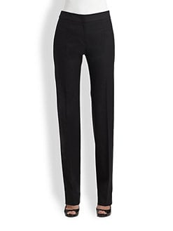 Armani Collezioni - Featherweight Wool Slim-Leg Trousers