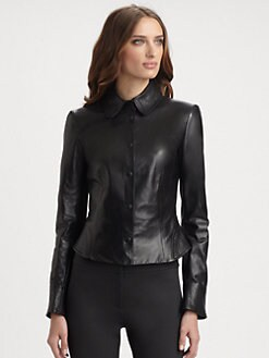 Armani Collezioni - Nappa Leather Shirt Jacket