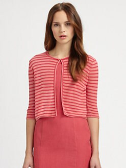 Armani Collezioni - Contrast Stripe Cardigan