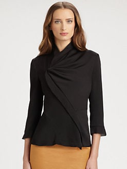 Armani Collezioni - Asymmetrical Silk Jacket