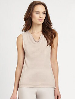 Armani Collezioni - Sleeveless Ribbed Top