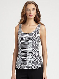 Armani Collezioni - Sequined Nautical Tank