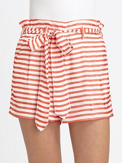 Armani Collezioni - Striped Silk Shorts