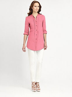 Armani Collezioni - Linen Tunic Blouse