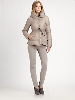 Armani Collezioni - Belted Herringbone Puffer