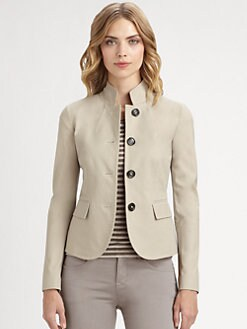 Armani Collezioni - Stretch Cotton Military Jacket
