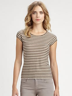 Armani Collezioni - Tonal Stripe Jersey Tee