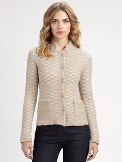 Armani Collezioni - Check Knit Cardigan