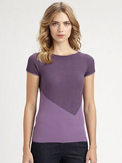 Armani Collezioni - Geometric Micro Stripe Tee