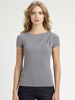 Armani Collezioni - Draped Stretch Jersey Tee
