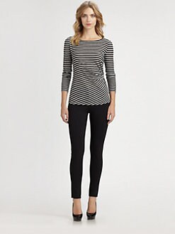 Armani Collezioni - Striped Jersey Top