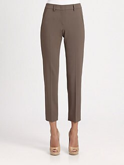 Armani Collezioni - Cropped Straight-Leg Pants