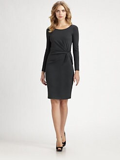 Armani Collezioni - Milano Jersey Tie-Waist Dress