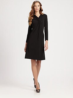 Armani Collezioni - Matte Jersey Twist-Front JDress