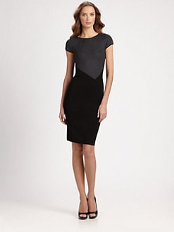 Armani Collezioni - Micro Stripe Knit Dress