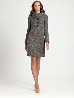 Armani Collezioni - Wool-Blend Tweed Coat