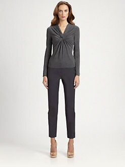 Armani Collezioni - Twisted Stretch Jersey Top