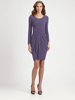Armani Collezioni - Wrap-Effect Stretch Jersey Dress
