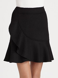 Armani Collezioni - Ruffled Wrap-Effect Skirt