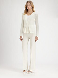 Armani Collezioni - Knit Peplum Jacket