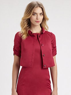Armani Collezioni - Cropped Sateen Jacket