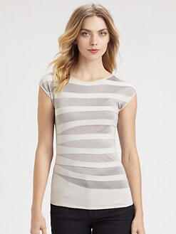 Armani Collezioni - Contrast Stripe Tee