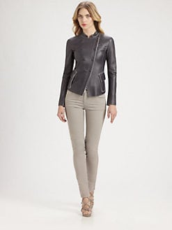 Armani Collezioni - Asymmetrical Leather Jacket