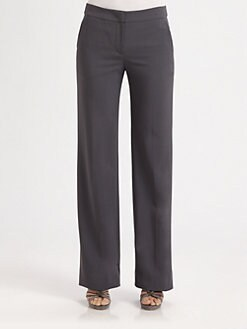 Armani Collezioni - Featherweight Wool Slim Straight Trousers