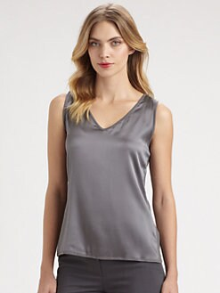 Armani Collezioni - Silk/Cashmere Combo Tank