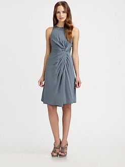 Armani Collezioni - Jeweled Twist Knot Dress