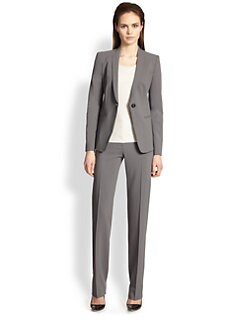Armani Collezioni - Featherweight Wool Molded-Collar Jacket