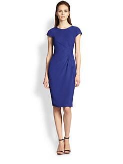 Armani Collezioni - Silk Cady Side-Pleat Dress