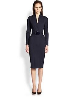 Armani Collezioni - Milano Knit Jersey Belted Dress