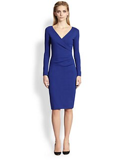 Armani Collezioni - Milano Jersey Faux-Wrap Dress