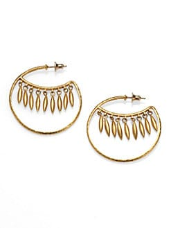 GURHAN - 24K Yellow Gold Wink Hoop Earrings