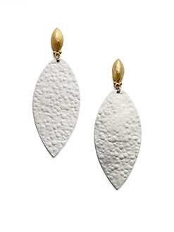 GURHAN - 24K Yellow Gold & Sterling Silver Teardrop Earrings