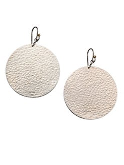 GURHAN - Sterling Silver Textured Flake Drop Earrings