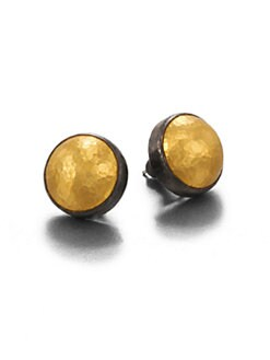 GURHAN - 24K Gold & Blackened Sterling Silver Stud Earrings