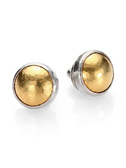 GURHAN - 24K Gold & Sterling Silver Button Earrings