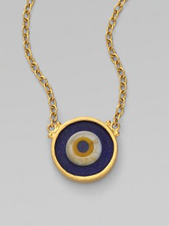 GURHAN - 24K Gold Evil Eye Pendant Necklace